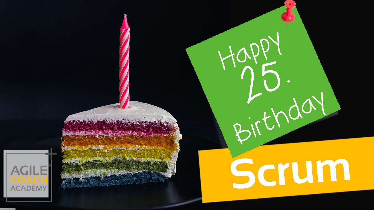25. Geburtstag Scrum