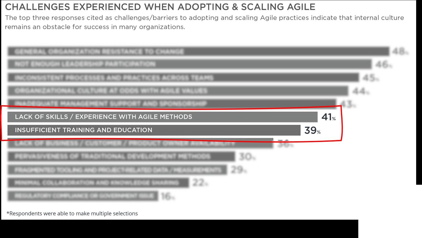 Agile Transformation Herausforderungen
